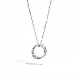 Bamboo Interlinking Pendant Necklace in Silver
