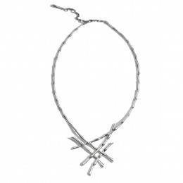 Bamboo 2MM Necklace in Silver