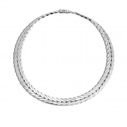 Modern Chain 11MM Necklace in Silver