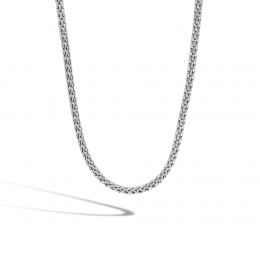 Classic Chain 3.5MM Woven Necklace in Silver