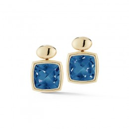 A & Furst Gaia Drop Earrings with London Blue Topaz, 18K Yellow Gold