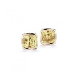 A & Furst Gaia Stud Earrings with Citrine, 18K Yellow Gold