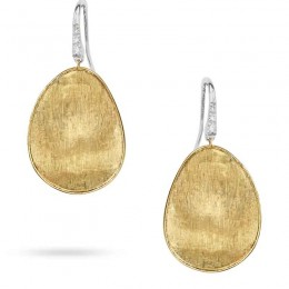 Marco Bicego 18K Yellow Gold & Diamond Pave Medium French Wire Earrings