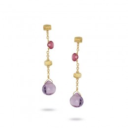 Marco Bicego Paradise Earrings With Mixed Stones.