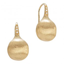 Africa Boules Collection Diamond Hooks Earrings