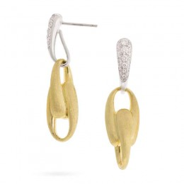 Marco Bicego® Lucia Collection 18K Yellow Gold And Diamond Link Drop Earrings