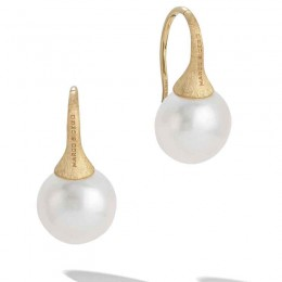 Africa Gold and Pearl Earrings