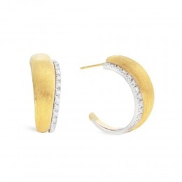 Marco Bicego® Lucia Collection 18K Yellow Gold And Diamond Medium Hoop Earrings
