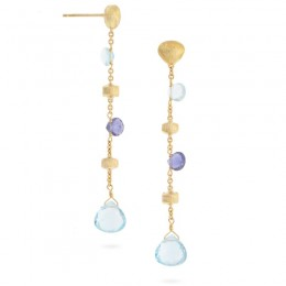 Paradise Collection Blue Topaz and Iolite Drop Earrings