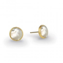 Marco Bicego 18K Yellow Gold & Mother Of Pearl Petite Stud Earrings