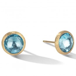 Jaipur Blue Topaz Petite Stud Earrings