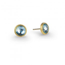 "Marco Bicego ""Jaipur"" 18 Karat Yellow Gold Post Earrings With Topaz."