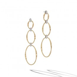 Marrakech Onde Diamond Flat Link Triple Drop Earrings