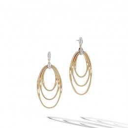 Marrakech Onde Diamond Concentric Earrings