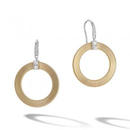 Masai Diamond Circle Drop Earrings