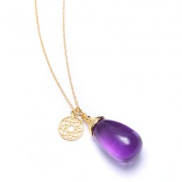 SYNA Small Amethyst Mogul Drop Necklace