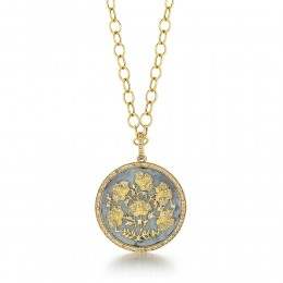 SYNA JEWELS MOGUL POPPY FLOWERS PENDANT
