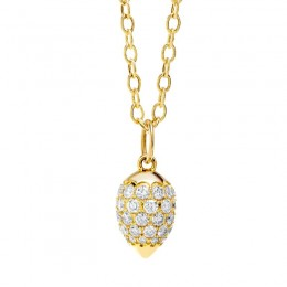 SYNA 18K Drop Pendant With Diamonds