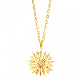 SYNA 18K Yellow Gold Starburst Pendant
