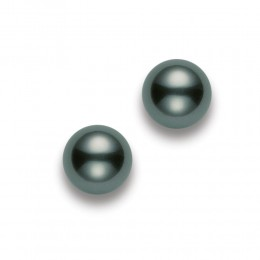 Mikimoto 8mm A+ Black South Sea Pearl Stud Earrings