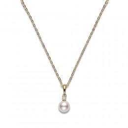 Mikimoto A+ Akoya Pearl and Diamond Pendant