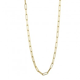 18K 24-Inch Rectangle Fancy Chain