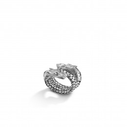 Legends Naga Coil Ring in Silver