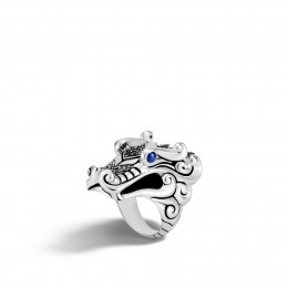 Legends Naga Ring in Silver with Gemstone