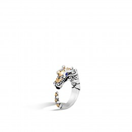 Legends Naga Ring in Brushed Silver and 18K Gold