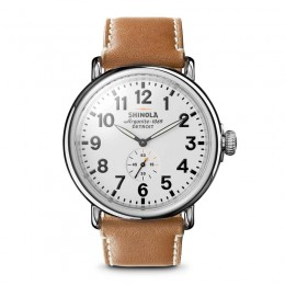 Runwell 47mm, Natural Leather Strap Watch
