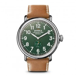 Runwell 47mm, Largo Tan Leather Strap Watch