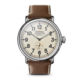 Runwell 47mm, Dk. Coffee Leather Strap Watch