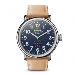 The Runwell Black Dial Tan Leather Men