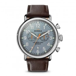 Runwell  47mm, Deep Brown Leather Strap Watch