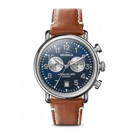 Runwell 2 Eye Chrono 41mm, Tan Leather Strap Watch