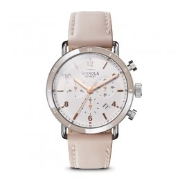 Canfield Sport 40mm, Soft Blush Leather Strap Watch