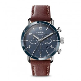 Canfield Sport 40mm, Dark Cognac Leather Strap Watch