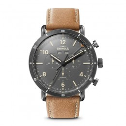 Canfield Sport 45mm, Natural Leather Strap Watch