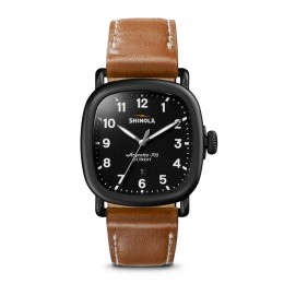Guardian 41.5 x 43mm, Deep Tan Leather Strap Watch