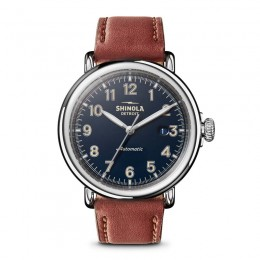 Runwell Automatic 45mm, Dark Cognac Leather Strap Watch
