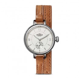 Birdy Sub Second 34mm, Bourbon Leather Strap Watch