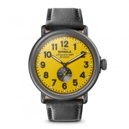 Runwell Sub Second 47mm, Black Leather Strap Watch
