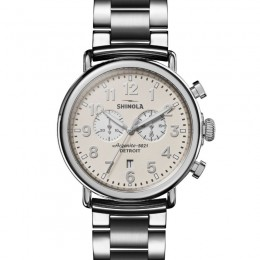 Runwell Chrono 47mm, Silver Bracelet