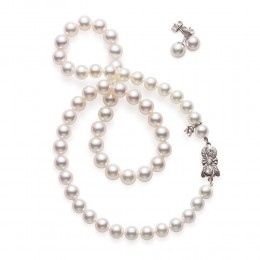 Mikimoto Akoya Pearl Strand and Earrings Set