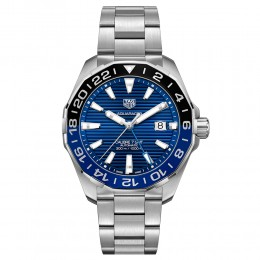 Aquaracer 300M Aluminum Bezel Calibre 7 Automatic GMT Watch