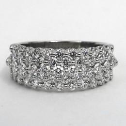 Platinum five row Royal-prong diamond band