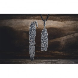 William Henry Sterling Silver Detachable Knife Pendant.