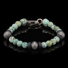 William Henry Beaded Bracelet With Sterling Silver