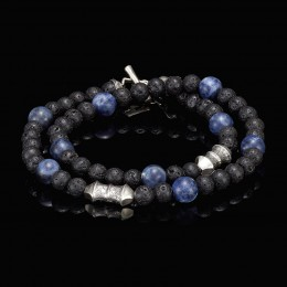 William Henry Sodalite Tether Crafted Bracelet