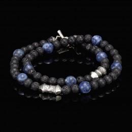 William Henry Sodalite Tether Crafted Bracelet